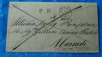 1850 86) PREFILATELICA AREZZO CANDIDO PRATESI A GELTRUDE CAVINA PRATESI MARRADI