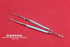 Micro Castroviejo Forceps Curved 14.5 cm with TC tip
