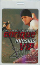 ENRIQUE IGLESIAS 2002 TOUR LAMINATED BACKSTAGE PASS