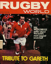 GARETH EDWARDS WALES & BRITISH LIONS TRIBUTE RUGBY WORLD MAGAZINE APRIL 1978