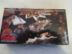 SCHUCO PICCOLO CHRISTMAS 2012 PIN STUDIO I & VW KAFER CABRIOLET GOLD PLATED