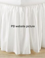 """Pottery Barn Voile Cotton Bed Skirt Queen 15"""" Drop Off White"""