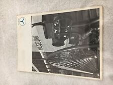 Mercedes Benz Museum Fold out brochure poster circa early 1960's