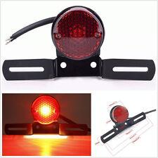 New Black Round 12V LED Motorcycle ATV Brake License Plate Integrated Tail Light