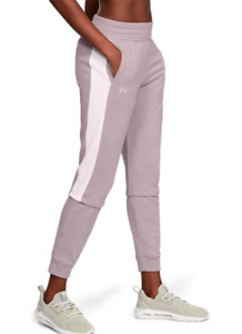 NWT$50 Under Armour Women's Rival Terry Joggers Size L 1351889 Pink/Gray