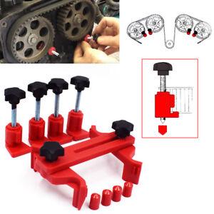 Car Dual Cam Clamp Lock Camshaft Engines Timing Sprocket Gear Locking Tool Kit