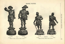 "1894 PAPER AD Bronze Statue Figure 21"" Dons 15"" Gladiators Gilt Sphinx Science"