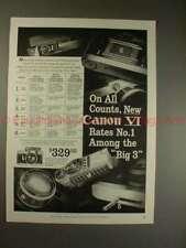 1958 Canon VI Rangefinder Camera Ad - Rates No. 1!!