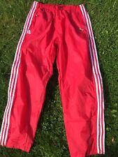 Adidas Original wet look glanz pride shiny Rasta L Pants Rain  34 W 36 W Red