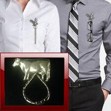 Pewter cow ppa37  Brooch drop hoop Holder For Glasses , Pen , ID jewellery