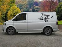 Van Laptop 2 x Exedy Vinyl Sticker for Car Window Etc.