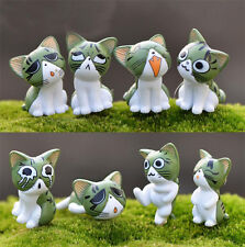 8pcs Miniatur Katze Feengarten Terrarium Figur Dekor Diy Bonsai Handwerk
