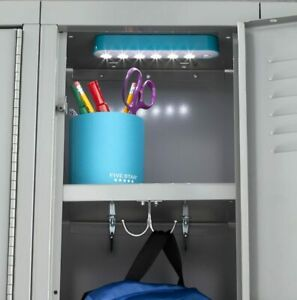 School Locker LED Lights Magnetic 7 1/2 Inch Five Star Colors Vary