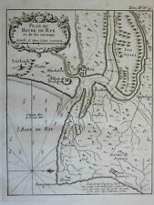 Rye Guilford Winchelsea Sussex England City Plan Fort Oxney Isle 1760 Bellin map