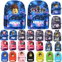 Roblox Backpack Kids School Bag Students Boys Bookbag Handbags Starry Travel Bag