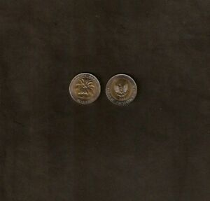 INDONESIA 1000 1,000 RUPIAH KM56 1996 PALM BI METAL UNC COIN X 100 PCS LOT MONEY