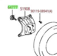 Toyota Rav4 2001 - 2005 Steel Wheel Half Spare Cover Mounting Clamp Genuine OEM