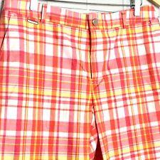Lauren Ralph Lauren Active Women's Shorts Sz 10 Pink White Yellow Plaid Walking