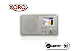 XORO HMT 300 V2 WLAN Internet Radio mit Spotify, Bluetooth, Wecker, USB, weiß