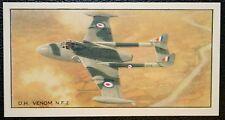DH Venom NF2  Royal Air Force Jet Fighter  Vintage Picture Card