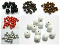 "100 Round Wood Beads 12mm (1/2"") Wooden Beads Color for Choice"