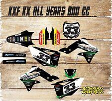 KAWASAKI KX KXF 65 85 125 250 450 FULL GRAPHICS KIT-STICKER KIT-DECALS-BLACK