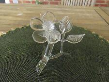 VINTAGE FRABEL ART GLASS DOGWOOD FLOWER SCULPTURE 1980