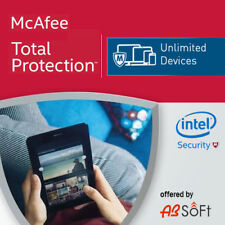 McAfee Total Protection 2018 Unlimited Devices 2017 12 Months INSTANT DELIVERY