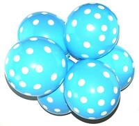 "12"" Polka Dot Latex Balloons 10 Party Decorations Spotty Birthday Dots Air Blue"