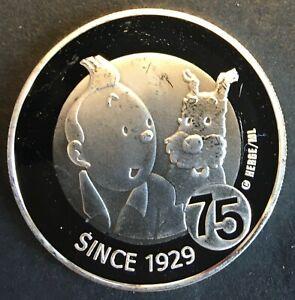 Belgium - Silver 10 Euro Coin - 'Tintin' - 2004 - Proof