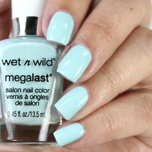 NEW! WET N WILD Megalast Nail Polish Lacquer in KISS MY MINTS
