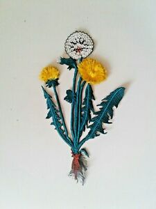 Dandelion Flower Handmade Embroidered Patch