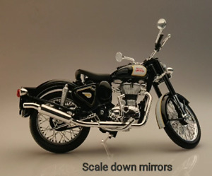 Royal Enfield CLASSIC 500 1:12 SCALE MODEL BLACK (Miniature) - Express Shipping