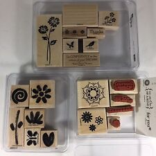 Stampin Up LIVE YOUR DREAM Painted Garden ONE OF A KIND Rubber Stamps Flowers