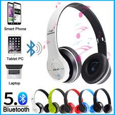 Foldable Over Ear Wireless Bluetooth Headphone Noise Cancel Stereo Headset W/Mic