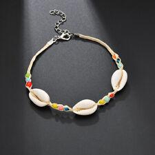 Anklet Bead Shell String Ankle Chain Bracelet Surfer Boho Festivals Holiday LJ