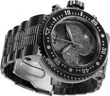 Invicta 52mm Pro Diver Combat Seal Quartz Chronograph Black IP Bracelet Watch