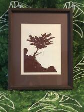 "Christine Riedell Silkscreen Print, Monterey Cypress, Signed Nov 74, 12"" x 15"""