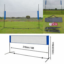 10'x7' Badminton Tennis Volleyball Net Stand/frame Height Adjustable Portable