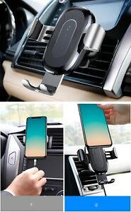 QI Wireless 2A Fast Charger Gravity Car Mount 10W Silicone for iPhone X 8 8Plus
