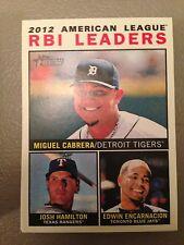 2013 Topps Heritage Leaders RBI Cabrera Hamilton Encarnacion Tigers Blue Jays 12