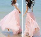 femme en vrac BOHO GITAN mousseline de soie long COMPLET JUPE MAXI plage robe
