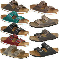 Birkenstock Arizona Nubukleder Schuhe Sandale Pantolette Hausschuhe Clogs Unisex