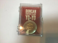 New Original Duncan Cross Flags Wooden Tournament Yo-Yo With Trick Book