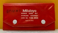 Mitutoyo 186 906 0010 To 0500 26 Piece Sae Radius Gauge Set Complete