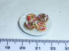 1:12 Scale 4 Cakes on a Plate 8  Doll House Miniatures