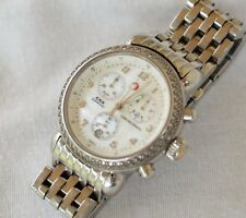 Michele CSX Diamond Mother of Pearl Dial Chronograph Watch - Used