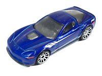 Hot Wheels 2013 Chevy Chevrolet '09 Corvette ZR1 Metallic Blue White Malaysia