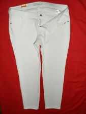 OLD NAVY Rockstar SUPER SKINNY STRETCH LOW-RISE JEANS WOMENS SZ 18REG~WHITE~$34