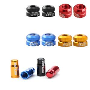 Bike presta valve inner tube locking nuts and valve caps cover set of 4 UK stock
